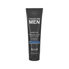 Шампунь Ollin Professional Premier For Men Shampoo Hair & Body Refreshing (Объем 250 мл) шампунь ollin professional premier for men shampoo сonditioner restoring объем 250 мл