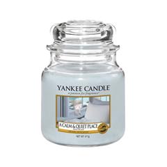 Ароматическая свеча Yankee Candle A Calm & Quiet Place Medium Jar Candle (Объем 411 г)