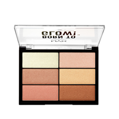 Для лица NYX Professional Makeup Born To Glow Highlighting Palette (Цвет BTGHP variant_hex_name BB734D)