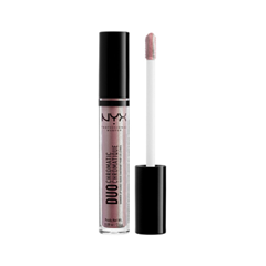 Блеск для губ NYX Professional Makeup Duo Chromatic Lip Gloss 08 (Цвет 08 The New Normal variant_hex_name CB97A0) блеск для губ nyx professional makeup butter gloss 06 цвет 06 peach cobbler variant hex name fe5244