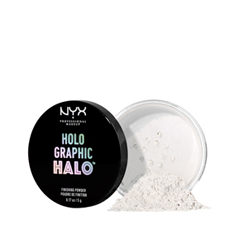 Рассыпчатая пудра NYX Professional Makeup Holographic Halo Finishing Powder 01 (Цвет HHFPT01 Mermazing variant_hex_name DDE7F0) головка dde гм 80