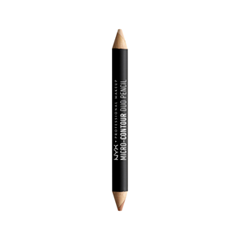 Контуринг NYX Professional Makeup Контурирующий Карандаш Micro-Contour Duo Pencil 01 (Цвет MCDP01 Light variant_hex_name F5C3A9) карандаш для глаз nyx professional makeup slide on pencil 02 цвет 02 black sparkle variant hex name 595b5a