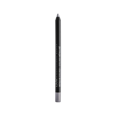 Карандаш для глаз NYX Professional Makeup Metallic Eyeliner 02 (Цвет MEL02 Silver variant_hex_name 726D74) double band metallic mules silver