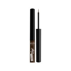 Подводка NYX Professional Makeup Strictly Vinyl Eyeliner 06 (Цвет SVEL06 Alliance variant_hex_name 49362F) fashion women travel kit jewelry organizer makeup cosmetic bag