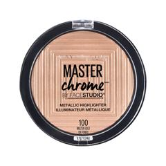 Хайлайтер Maybelline New York Facestudio Master Chrome Metallic Highlighter 100 (Цвет 100 Molten Gold variant_hex_name E4C6AC) anon маска сноубордическая anon somerset pellow gold chrome
