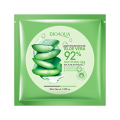 Тканевая маска BioAqua Aloe Vera With Hyaluronic Acid Facial Sheet Mask (Объем 30 г) white cospharm white organia good natural aloe vera hair conditioner кондиционер для волос с алоэ вера 500 гр