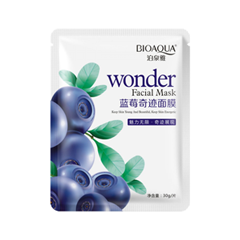 Фото Тканевая маска BioAqua Wonder Blueberry Whitening Moisturizing Facial Mask (Объем 30 г)