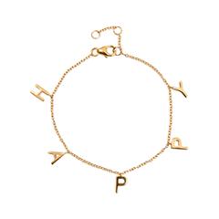 Браслеты Exclaim Браслет-цепь с подвесками Happy браслеты exclaim легкий браслет с подвесками в форме месяца и звезд