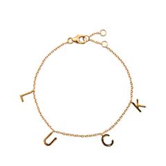 Браслеты Exclaim Браслет-цепь с подвесками Luck браслеты exclaim легкий браслет с подвесками в форме месяца и звезд