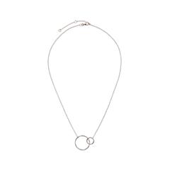 Колье Exclaim Цепь из  стерлингового серебра с подвесками-кольцами