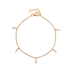 Браслеты Exclaim Легкий браслет-цепочка из серебра с золотым покрытием exclaim браслет цепочка с подвесками