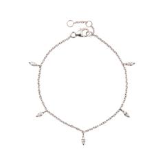 Браслеты Exclaim Легкий браслет-цепочка с миниатюрными цирконами exclaim браслет цепочка серебряный с подвесками