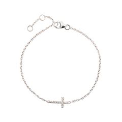 Браслеты Exclaim Легкий браслет с элементом в форме креста браслеты exclaim легкий браслет цепочка с миниатюрными цирконами
