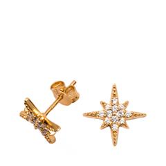 Серьги Exclaim Серьги-пусеты в форме остроконечной звезды серебряные пусеты в украине