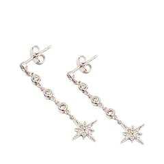 Серьги Exclaim Удлиненные серьги с подвеской в форме звезды серьги с султанитом в москве