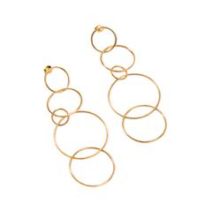 Серьги Exclaim Удлиненные серьги с тонкими серебряными кольцами