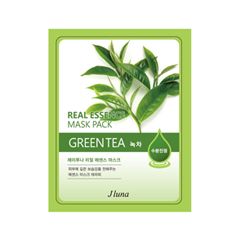 Тканевая маска Juno Real Essence Mask Pack Green Tea (Объем 25 мл)