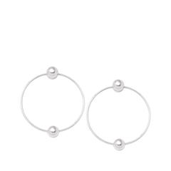 Серьги Expression Jewelry Серебряные серьги-кольца Двоеточие