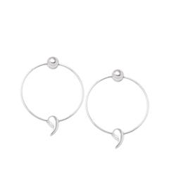 Серьги Expression Jewelry Серебряные серьги-кольца Точка с запятой