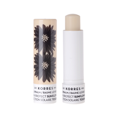Цветной бальзам для губ Korres Lip Balm Sun Protect Sunflower SPF20 (Цвет Sun Protect Sunflower SPF20 variant_hex_name F1E3D9) janssen lip balm бальзам для губ 15 мл