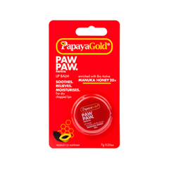 Бальзам для губ PapayaGold Paw Paw Papaya Lip Balm Manuka Honey 20+ (Объем 7 мл) vichy бальзам для губ aqualia thermal 4 7 мл бальзам для губ aqualia thermal 4 7 мл 4 7 мл