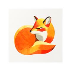 Переводные тату Sasha Unisex Kid Fox