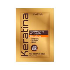 Маска Kativa Кератиновая маска для поврежденных волос (Объем 35 г)