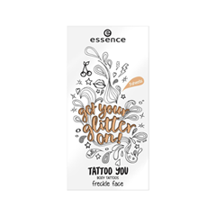 Переводные тату essence Get Your Glitter On! Tattoo You Body Tattoos 02 (Цвет 02 Freckle Face variant_hex_name E4AD80) laser freckle removal machine skin mole removal dark spot remover for face wart tag tattoo removal pen salon home beauty care