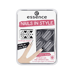 Дизайн ногтей essence Накладные ногти Nails In Style 04 (Цвет 04 Clear For You? variant_hex_name 96959C) дизайн ногтей essence накладные ногти french click