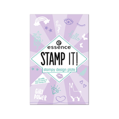 Дизайн ногтей essence Stamp It! Stampy Design Plate 01 (Цвет 01 Nails Just Wanna Have Fun! variant_hex_name E9EAEC) дизайн ногтей essence накладные ногти french click