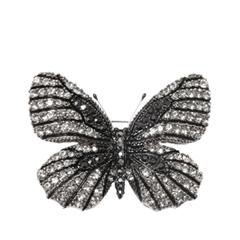 Броши Herald Percy Черная брошь-бабочка брошь кулон соблазн искусственная жемчужина гипоаллергенный ювелирный сплав lisa lone испания