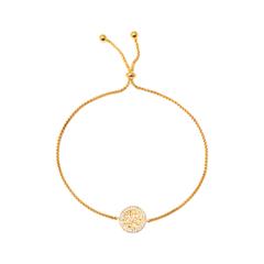Браслеты Herald Percy Позолоченный браслет-цепочка с арабской вязью на подвеске браслеты herald percy браслет цепочка со звездами