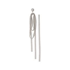 Серьги Herald Percy Серебристые асимметричные серьги-цепочки