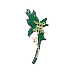 Броши Herald Percy Зеленая брошь-цветок с кристаллами броши honey jewelry брошь райский сад зеленая
