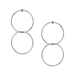 Серьги Lisa Smith Двойные серьги-кольца брошь кулон соблазн искусственная жемчужина гипоаллергенный ювелирный сплав lisa lone испания