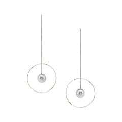 Серьги Lisa Smith Серьги-круги с жемчугом брошь кулон соблазн искусственная жемчужина гипоаллергенный ювелирный сплав lisa lone испания