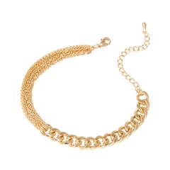 Браслеты Lisa Smith Золотистый браслет с толстой и тонкими цепями lisa corti короткое платье