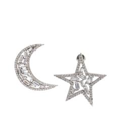 Серьги Lisa Smith Асимметричные серьги Звезда и месяц свитшот серый кот и бант lisa