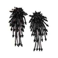 Серьги Lisa Smith Черные серьги с подвесками из стекляруса