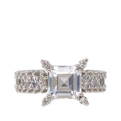 Кольца Lisa Smith Кольцо с квадратным кристаллом (Размер 170) lisa corti короткое платье