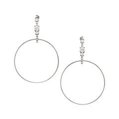 Серьги Lisa Smith Серьги-кольца с кристаллами lisa corti короткое платье
