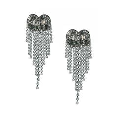 Серьги Lisa Smith Серьги с кристаллами черненые lisa smith серьги с перьями павлина