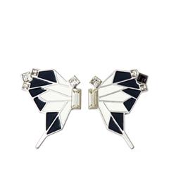 Серьги Nuance Бело-черные серьги-бабочки с кристаллами
