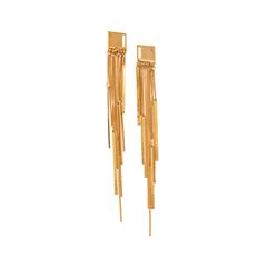 Серьги Nuance Золотистые серьги с цепочками серьги с султанитом в москве