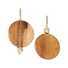 Серьги SKYE Асимметричные серьги с деревянными подвесками