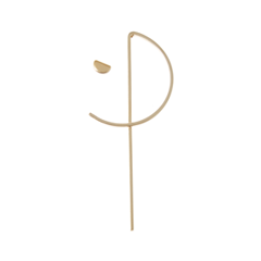 Серьги SKYE Золотистые асимметричные серьги с полукольцом