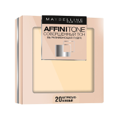 Компактная пудра Maybelline New York Affinitone 20 (Цвет 20 Натурально-бежевый variant_hex_name fad5ba) пудра maybelline new york affinitone powder цвет 03 светло бежевый variant hex name fae8da вес 50 00
