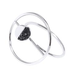 Кольца SKYE Кольцо с черным камнем кольца skye кольцо с белым треугольником размер 0