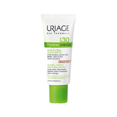 Тональная основа Uriage Hyséac 3-Regul Global Tinted SkinCare SPF 30 (Объем 40 мл) крем uriage hyseac 3 regul global skin care for oily skin with blemishes