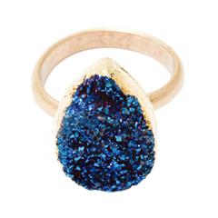 Кольца Wisteria Gems Кольцо с синей друзой twelve gems